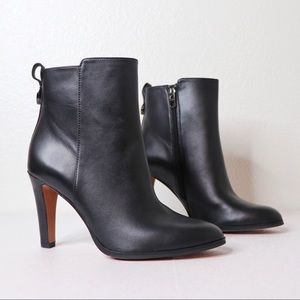 Coach Jemma Soft Leather Side Zipper Ankle Boots